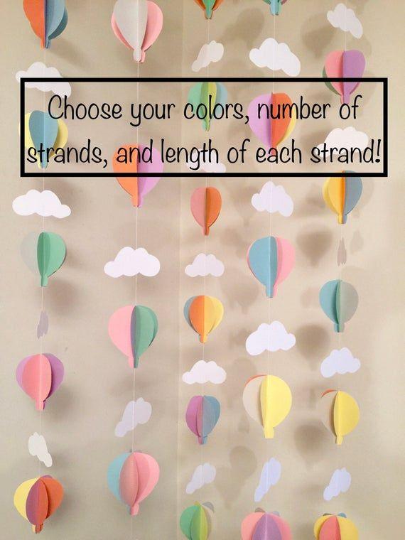 Hot Air Balloon Birthday Decor Air Balloon Baby Shower | Etsy