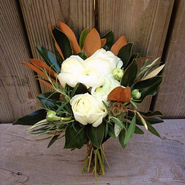 White Rose Magnolia Leaf Bouquets Magnolias Wedding Bouquet