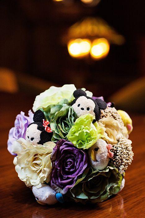 This Disney Tsum Tsum inspired bridal bouquet had us at hello