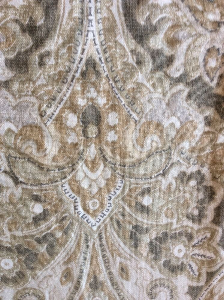 Pottery Barn Mackenna Paisley Neutral Drape Panels Set Of