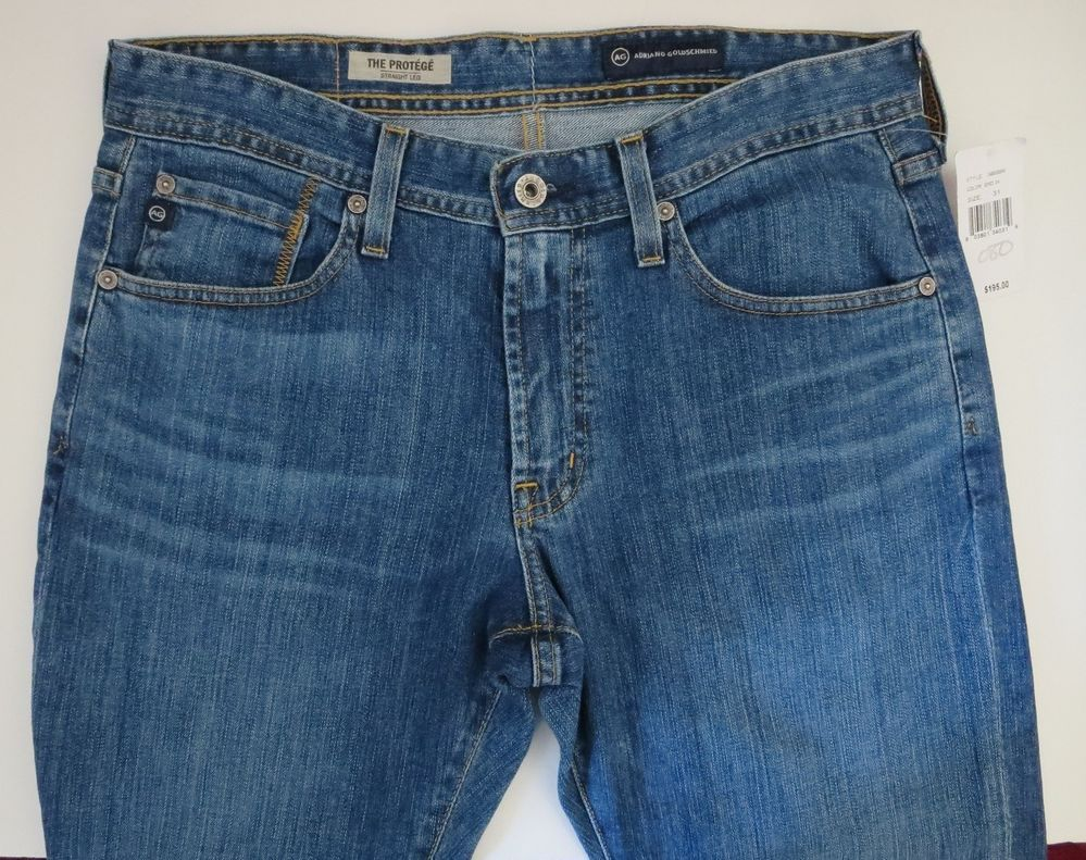 New AG ADRIANO GOLDSCHMIED The Protege Straight-Leg Mens Jeans ...