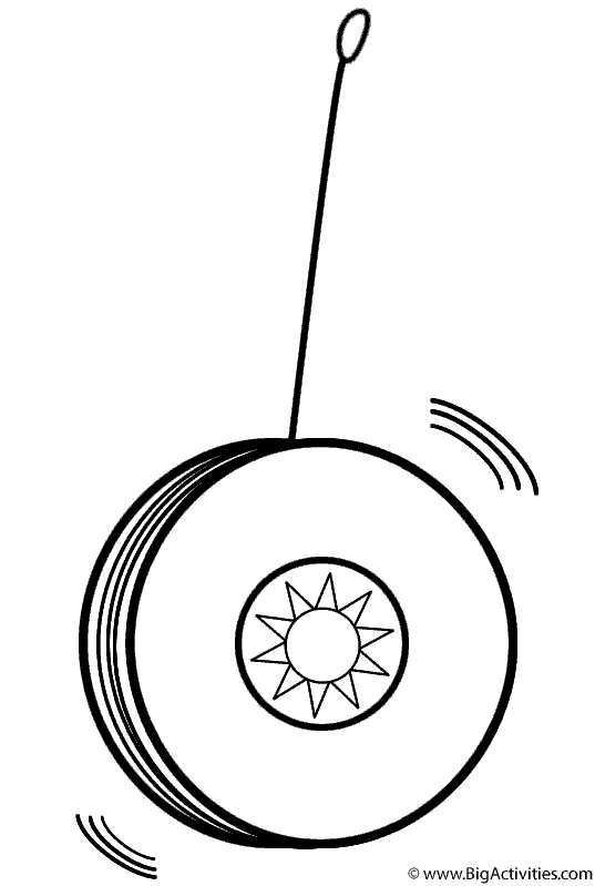Picture Of A Yoyo To Color Coloring Pages Free Printable Coloring Pages Yoyo Toy