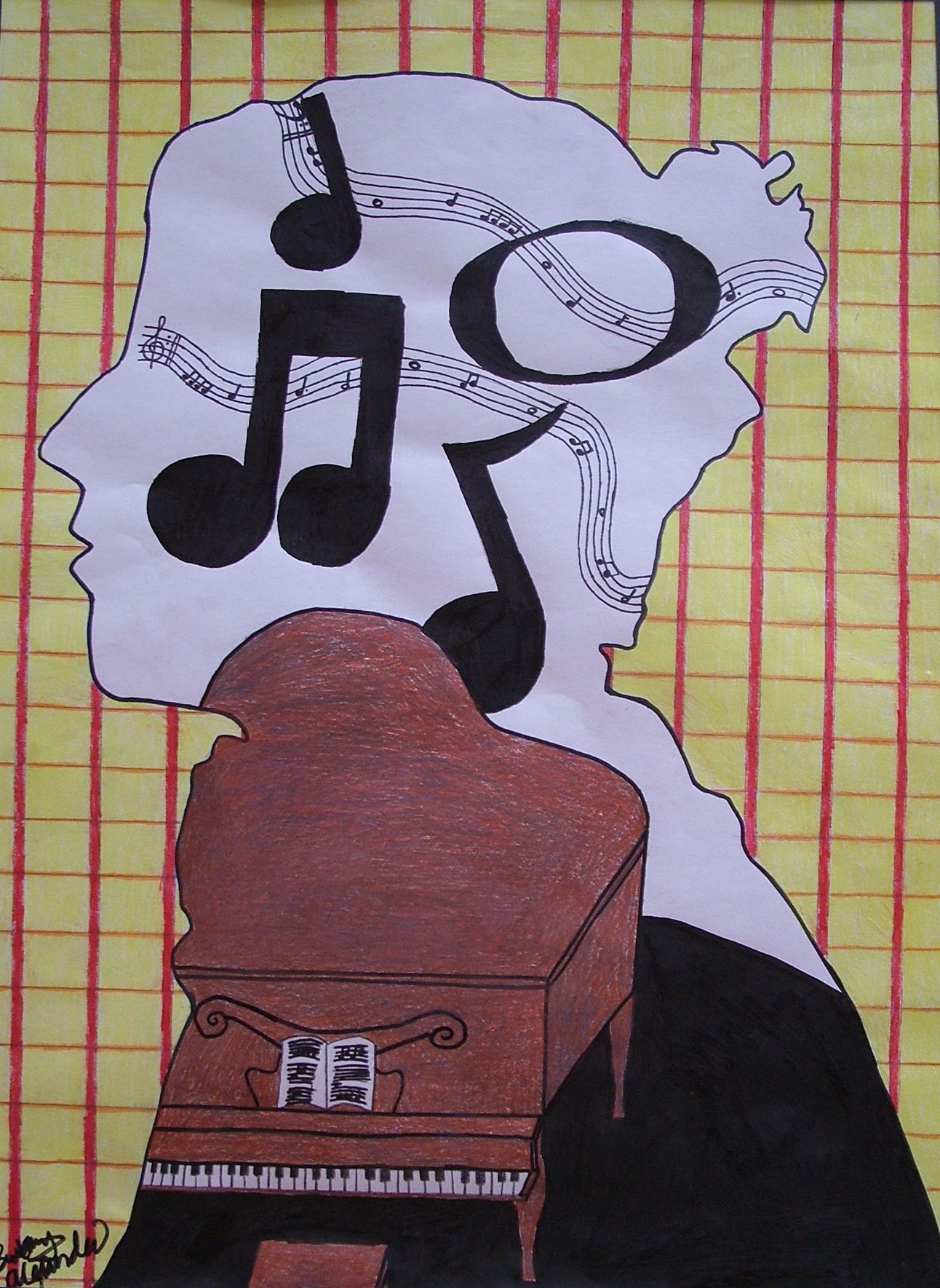 OHS: Project #1: Silhouette Self-Portrait   High school art ... for Silhouette Art Projects High School  599kxo