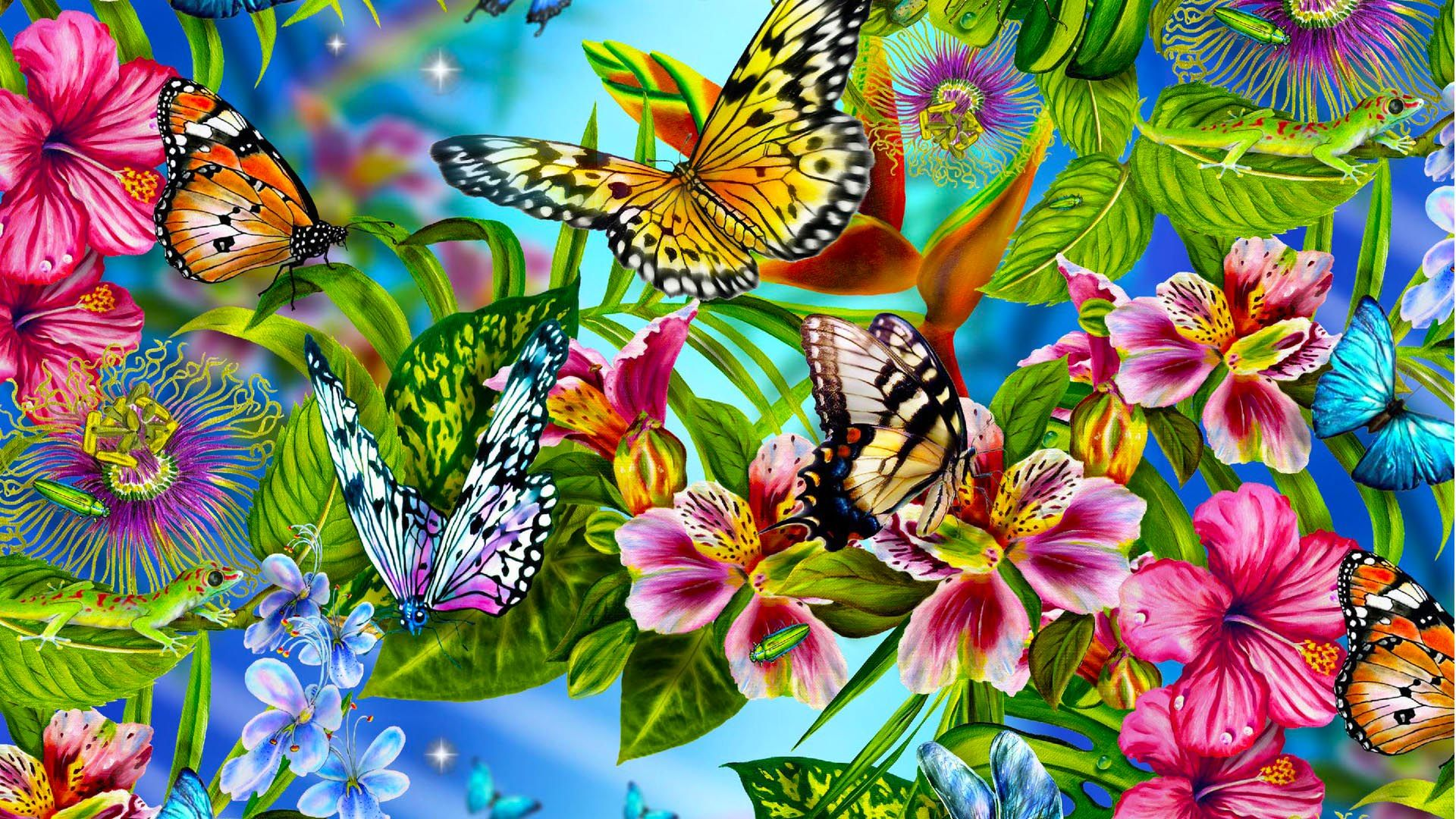 Animals For E Monarch Butterfly On Rose Beautiful Flowers