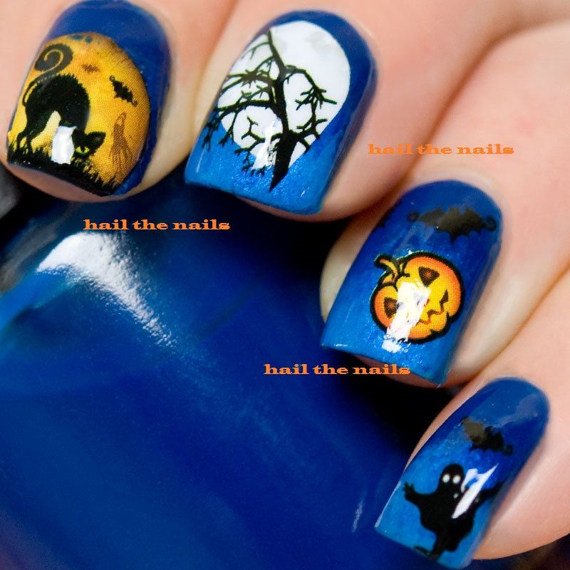 Unique halloween nail art related items   Etsy