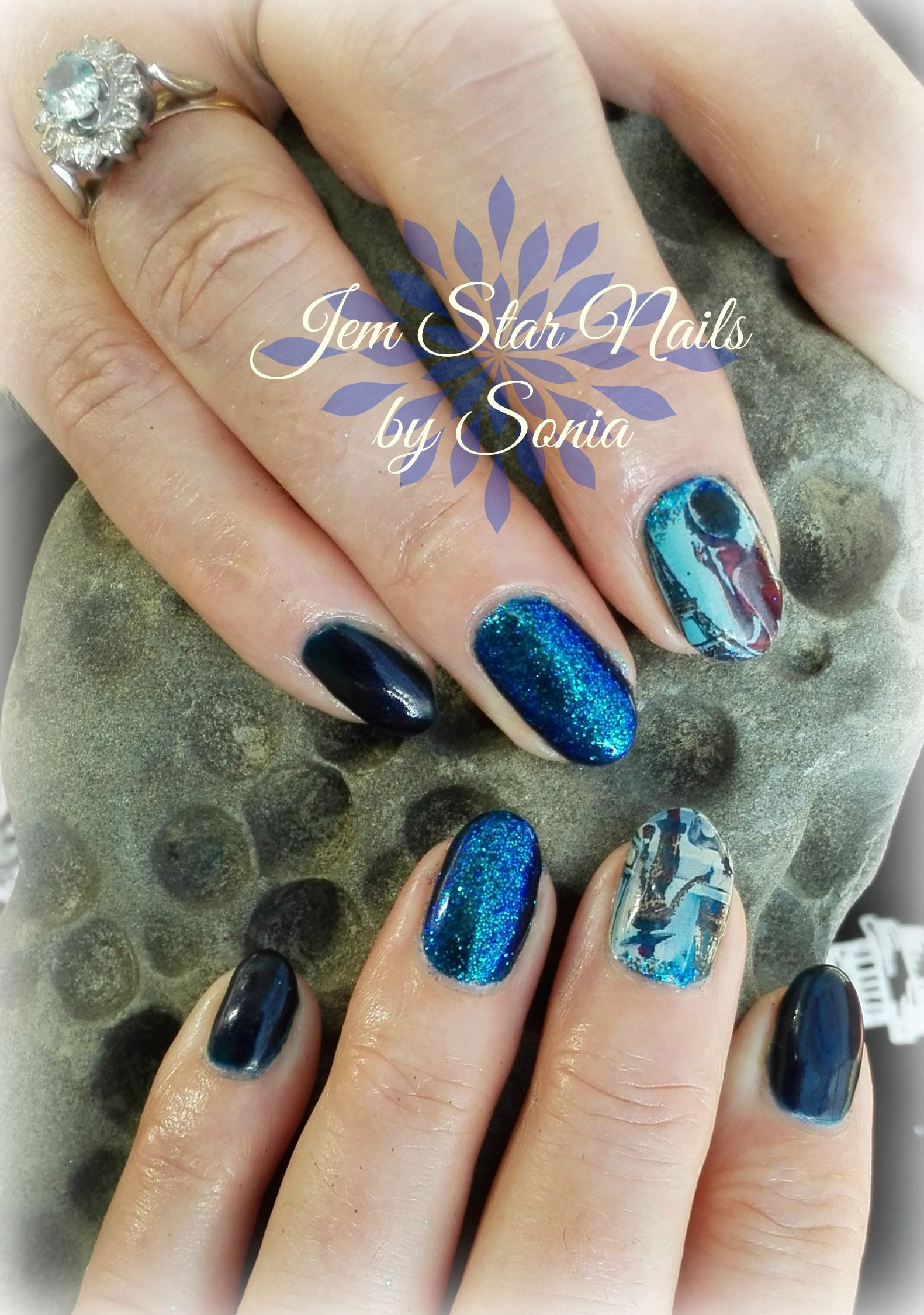 Gel Polish, Glitter and Vanilla Nail Art | Nails | Pinterest