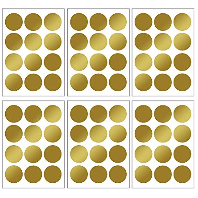 Wall Decal Dots Gold,WinnerEco DIY Dot Round Wall Sticker Decals Art ...