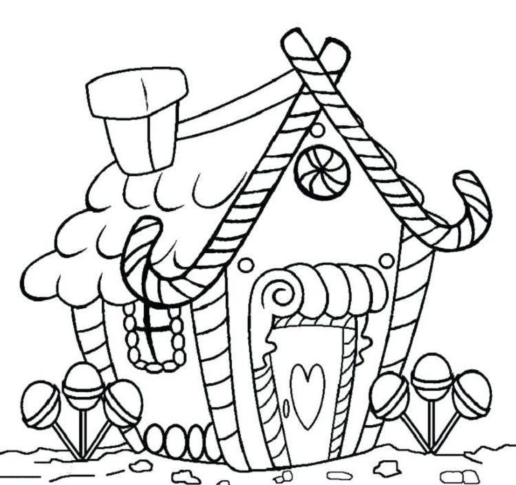 candy house coloring pages  ausmalbilder weihnachten