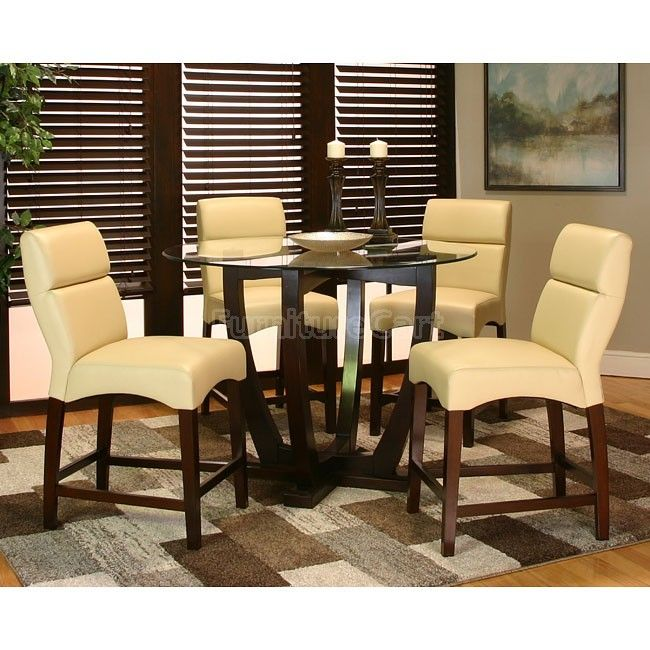 Adele Counter Height Dining Room Set W Khaki Chairs  Inspired Amazing Dining Room Pub Table Sets Review