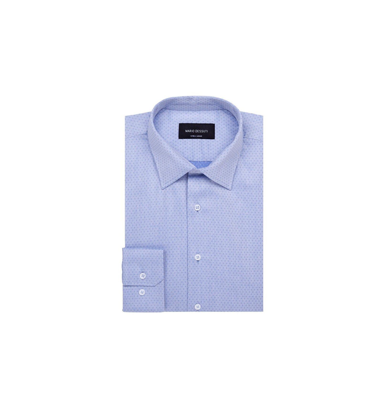chemise classique fantaisie bleu