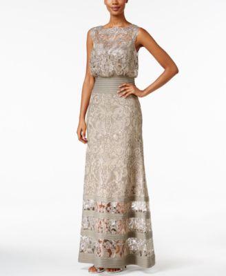 Tadashi Shoji Lace Blouson Gown | macys.com | VESTIDOS FIESTA ...