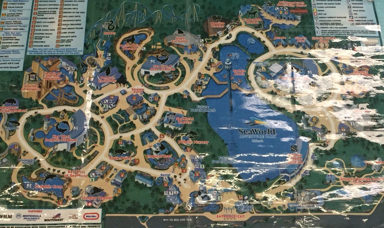 Vintage SeaWorld Orlando map Vintage SeaWorld Pinterest