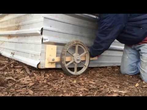 CHICKEN PROJECT Putting Wheels on Chicken Tractor