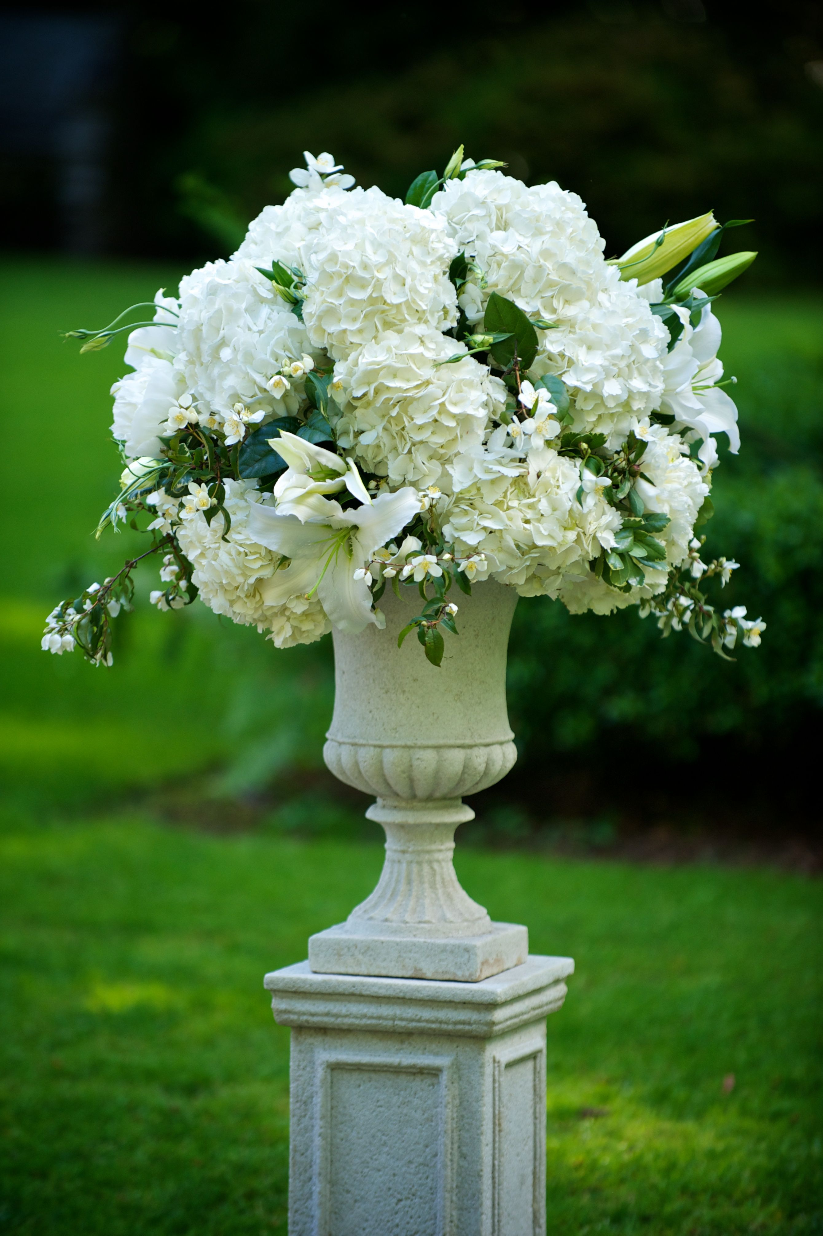 Ceremony Flowers  Our Tiffany Blue Wedding  Wedding