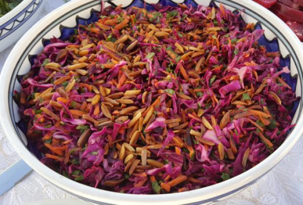 سلطة الملفوف الأحمر من فدى الطاهر Red Cabbage Salad By Fida Taher Lebanese Recipes Recipes Cooking