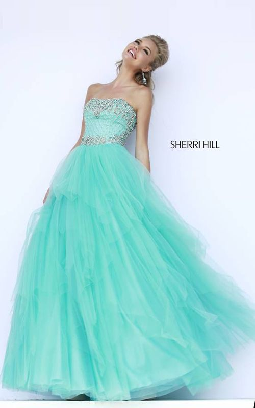 Aqua Sherri Hill 11185 Ball Gown2015   Prom   Pinterest   Aqua, Ball ...