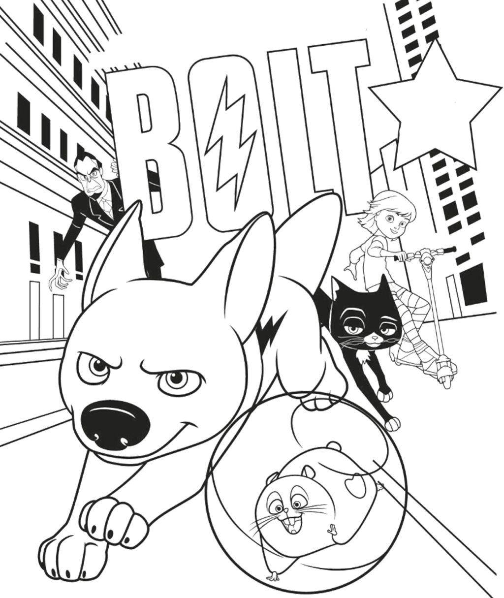 Disney Bolt Coloring Page - Bolt car coloring pages | Teacher Stuff ...