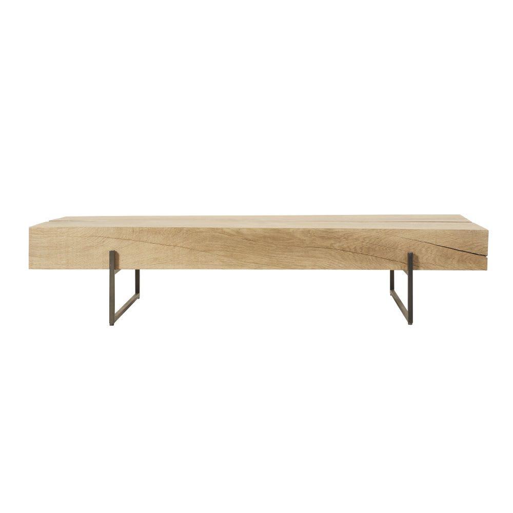 Table basse en chêne massif et métal noir in 2019 | Table basse bois ...