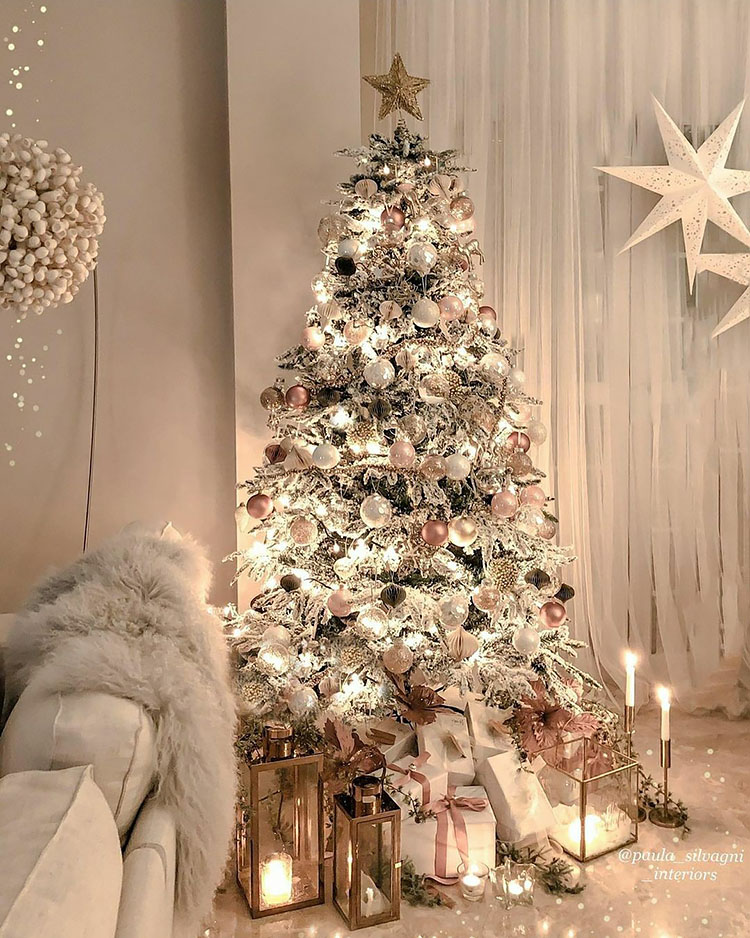 40 Gorgeous Christmas Tree Ideas For 2020 Beautiful Dawn Designs In 2020 Gorgeous Christmas Home Decor Inspiration Christmas Tree