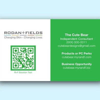 35 x 2 custom qr code rodan fields business card color choices 35 x 2 custom qr code rodan fields business card color choices colourmoves Images
