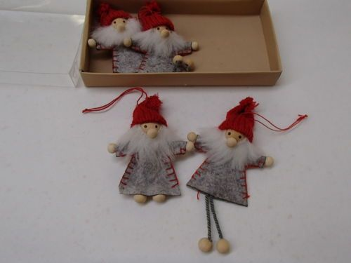 scandinavian swedish danish norwegian christmas 4 santa gnome elf ornaments in collectibles holiday seasonal christmas current ornaments other current