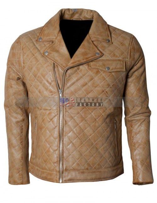 Embroidered Men Soft Leather Biker Jacket Sale Usa Leather Factory