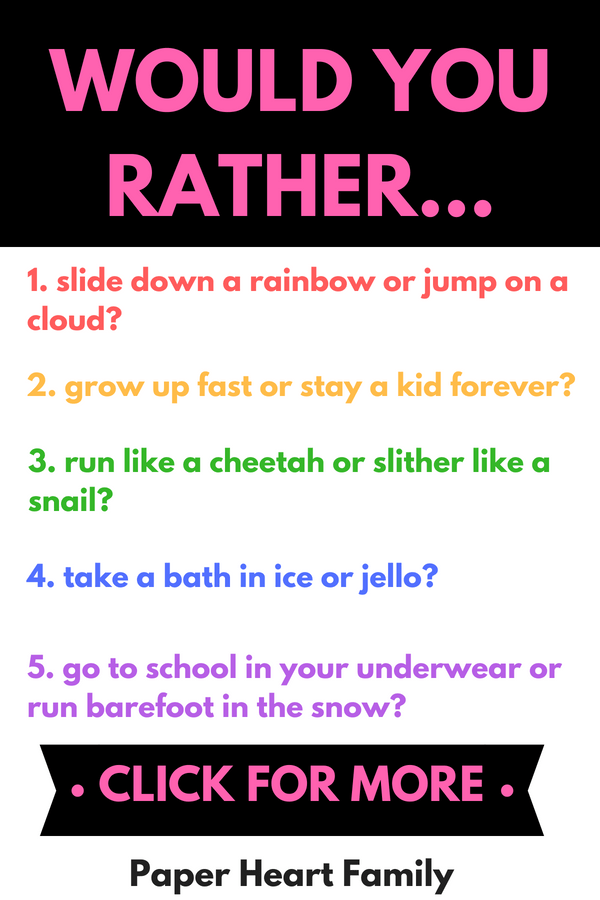 Would you rather...? | The Online Game
