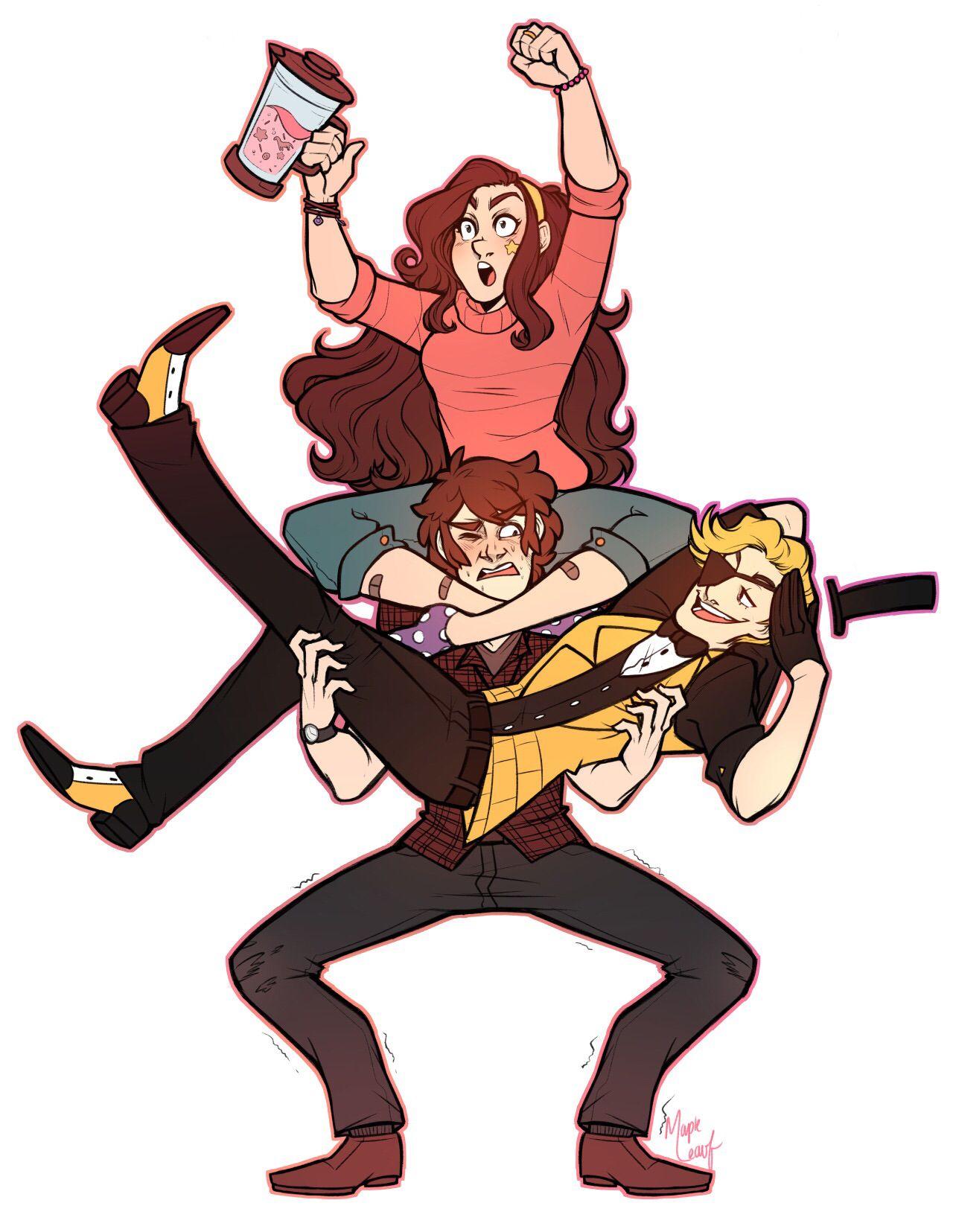 Gravity Falls Older Dipper Mabel And Human Bill