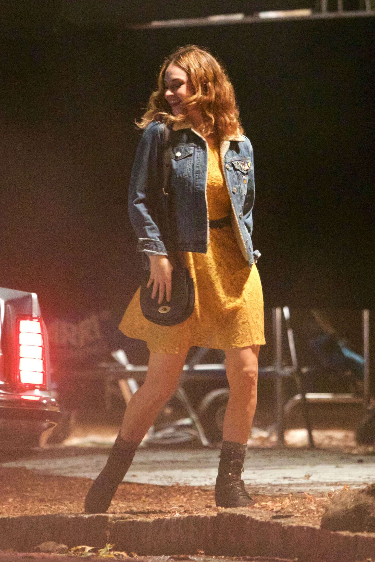 Lily James On The Set Of Baby Driver 11 Lily James Baby Driver Lily James Baby Driver
