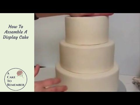How To Assemble A Dummy Cake Decorating Tutorial Wedding