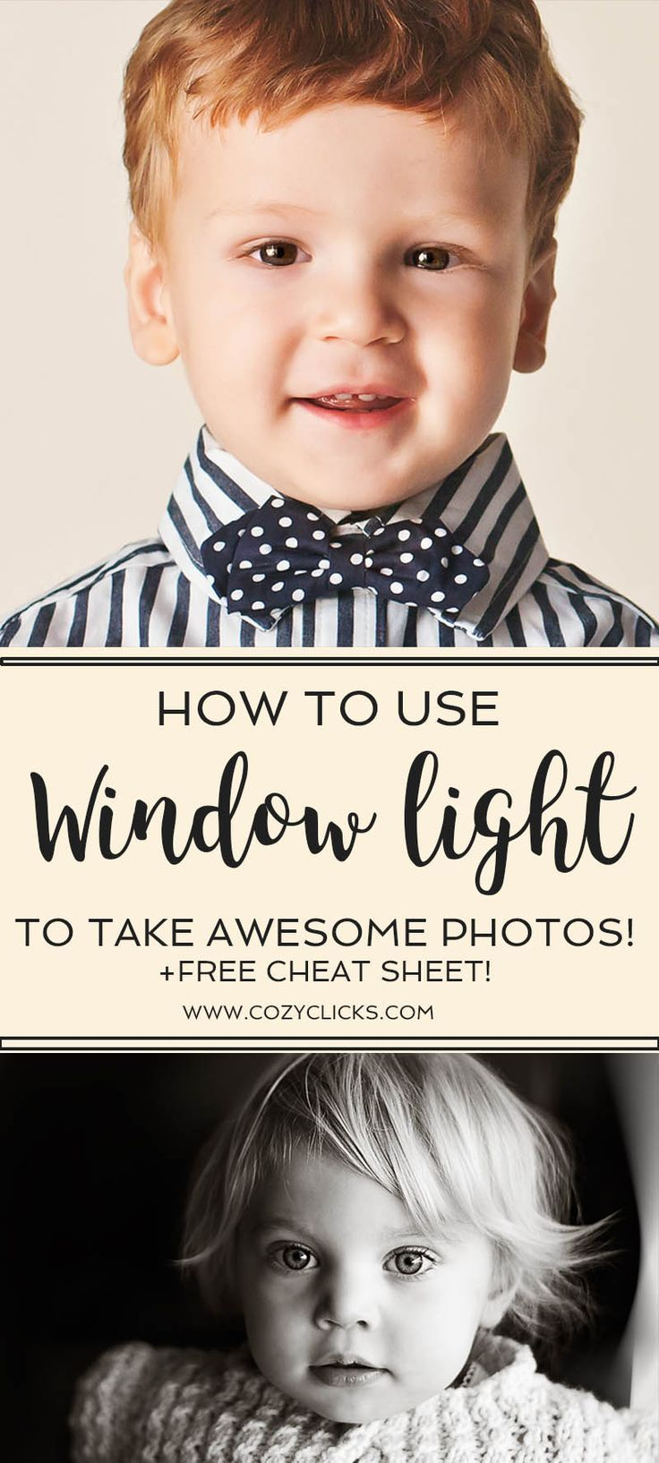 Beginner photography tips on using window light to take beautiful pictures. Follow this photography tutorial to help you light your photos with natural light from a window.
