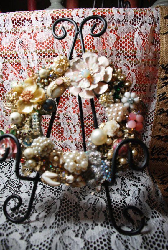 Vintage+Style+Rhinestone+and+Brooch+Romantic+by+KimberlyOArt,+$85.00