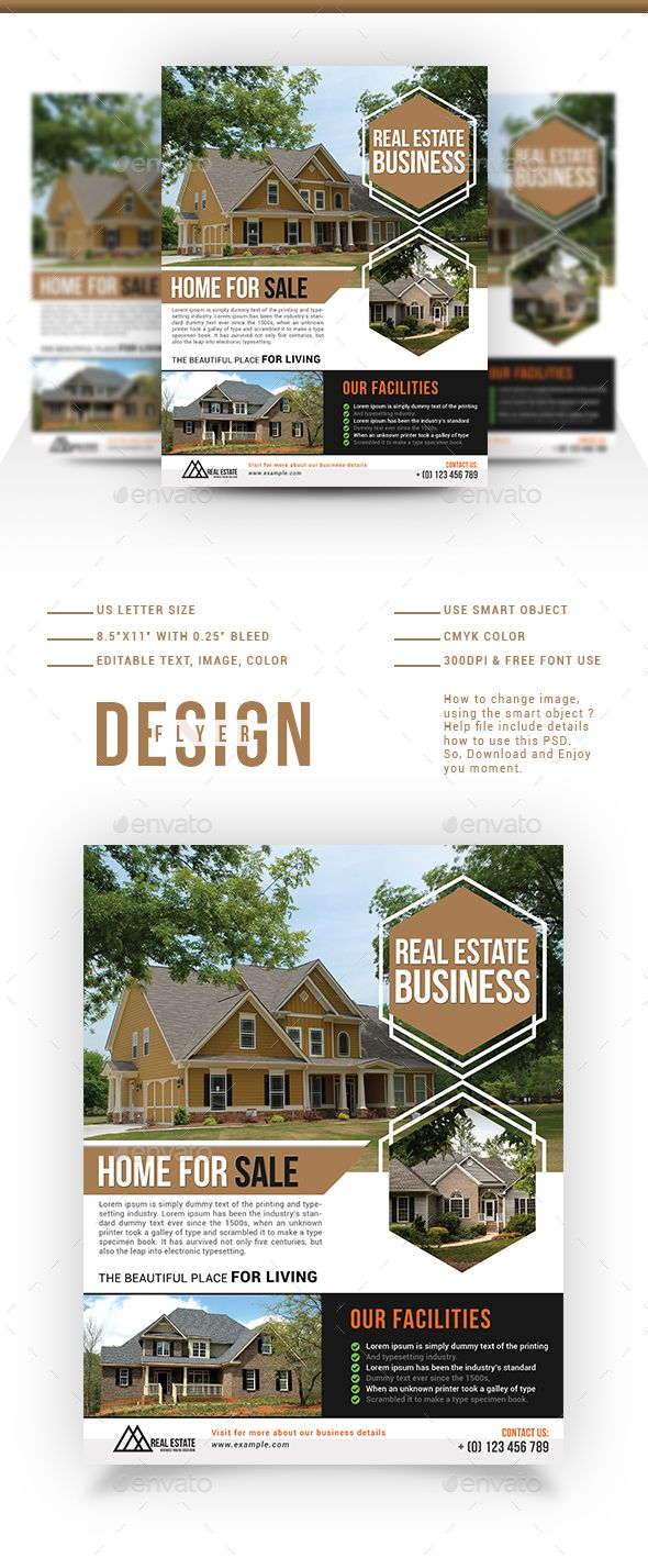 real estate flyer template real estate flyers flyer template and