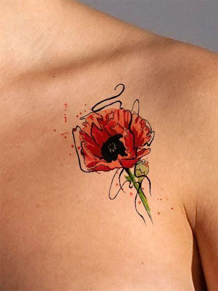 Poppy flower tattoo new tattoo ideas pinterest flower tattoos poppy flower tattoo mightylinksfo