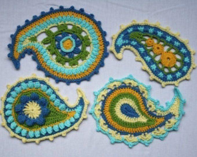 Paisley Swirl Crochet Pattern Pdf In English Deutsch Pinterest
