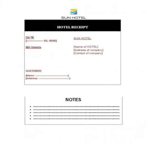 19 Best Quality Hotel Receipt Templates In 2020 With Images
