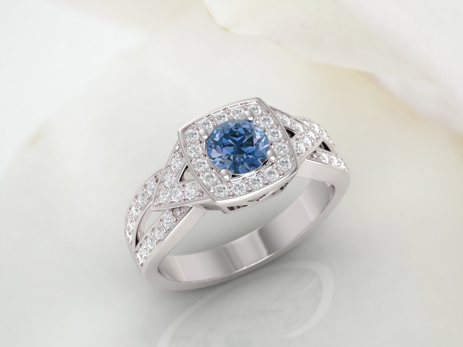 Available in 14K  18K yellow white or platinum. Sapphire and diamond engagement ring rose Gold claddagh Diamond claddagh ring