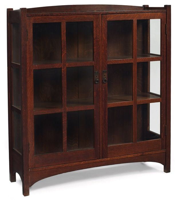 L Jg Stickley China Cabinet 728 Two Doors With Six Panes Of Glass And Origin Arts And Crafts Interiors Craftsman Style Furniture Arts And Crafts Furniture