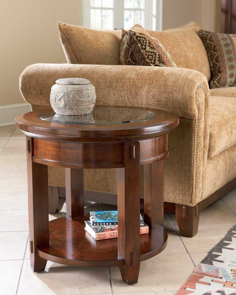 Vantana Round End Table Broyhill Home Gallery Stores Round Wood Coffee Table Coffee Table Wood Coffee Table [ 1000 x 800 Pixel ]