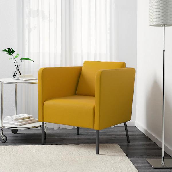 EKERÖ Fauteuil, Skiftebo geel IKEA in 2020 Yellow