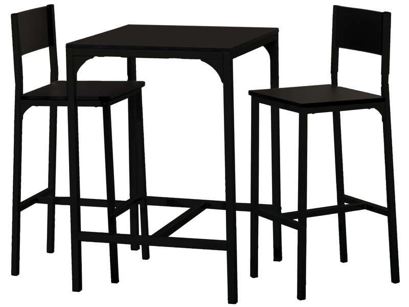 awesome Ensemble table + 2 tabourets de bar LOKO coloris noir - Conforama Tables De Cuisine