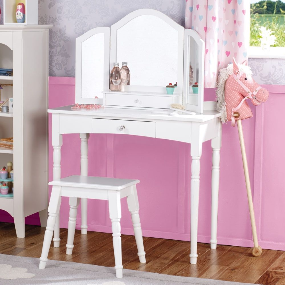 Childs Dressing Table Stool Set