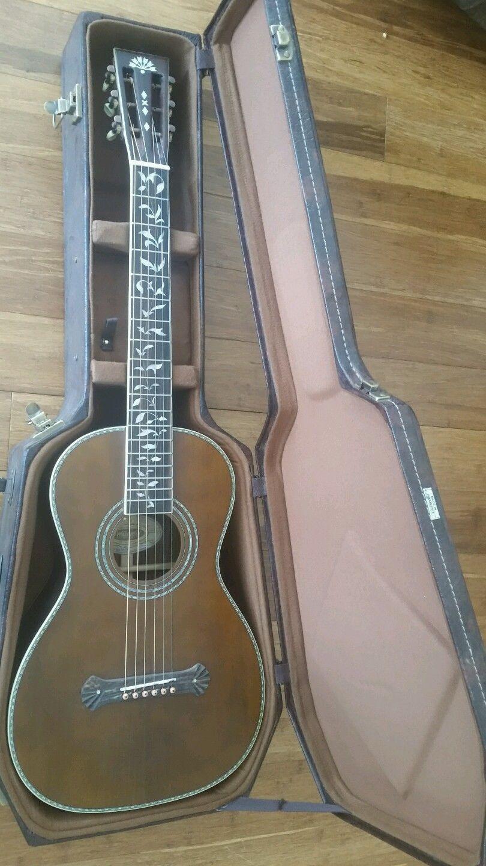 Washburn R320swrk Parlor Vintage All Solid Wood Acoustic Guitar W