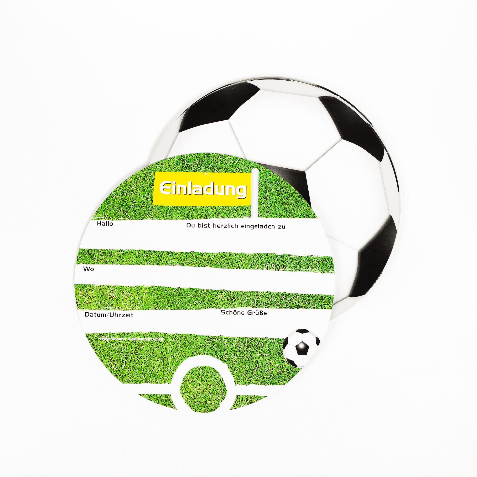 einladungskarten fussball, 6 stück | fußball einladungen