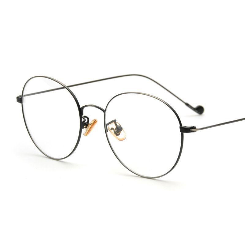 Click to Buy << JIE.B Round Glasses Frame light Optical Women Metal ...