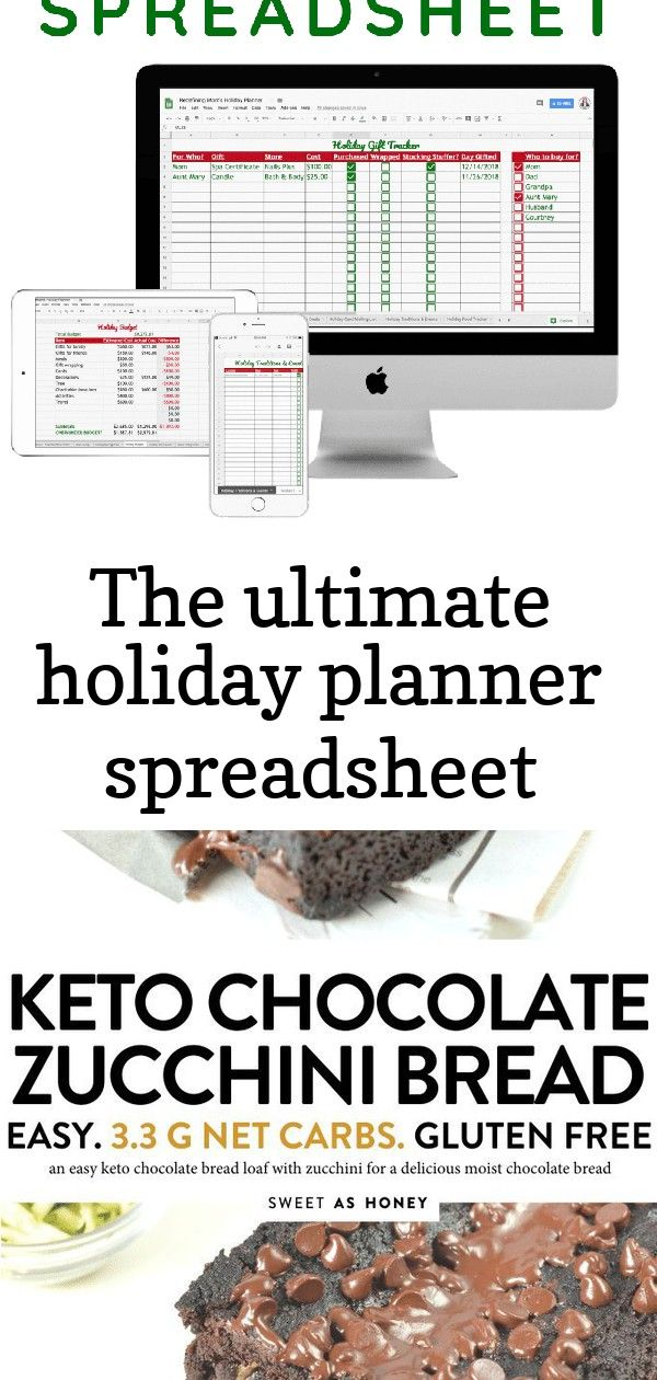 The ultimate holiday planner spreadsheet Organizing for the holidays doesnt have to be hard Why not go digital with the perfect holiday planner spreadsheet Holiday planni...