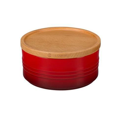Bote cerámico con tapa de madera Le Creuset