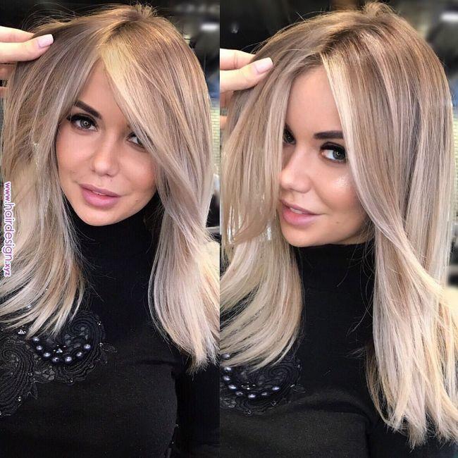 33 schönes Frisuren für blondes Haar #darkblondehair