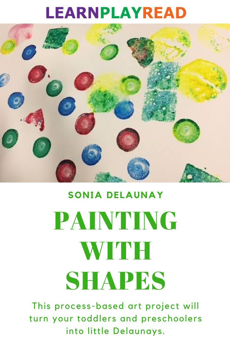 Practicing Shapes and Colors with Sonia Delaunay | Process art ...