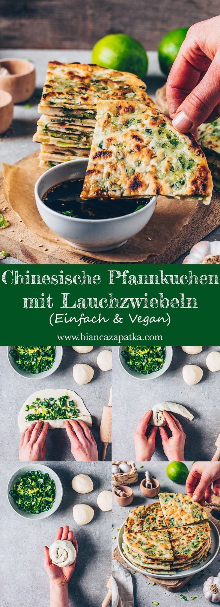 Pfannkuchen mit Lauchzwiebeln (Chinesische Art) - Bianca Zapatka   Rezepte